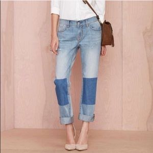 Nasty Gal • Patch Knee Relaxed Fit Boyfriend Jeans